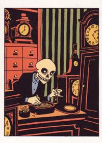 Postkarte: Der Uhrmacher