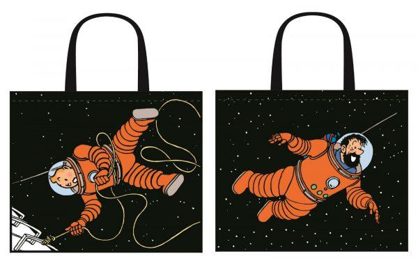 """Tim und Struppi Bag """" Moonwalk"""" Maße 28 cm x 45 cm"""