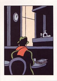 Postkarte: Warten