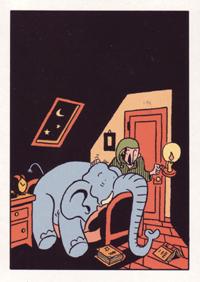 Postkarte: Weiße Mäuse